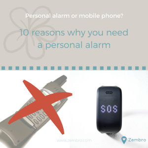 Personal alarm or mobile phone